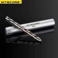 NITECORE NTP10 Titanium Tactical Pen Hallow Carve Body Tungsten Steel Tapered Tip and Matt Aluminum Alloy Pen Case Difesa Tool