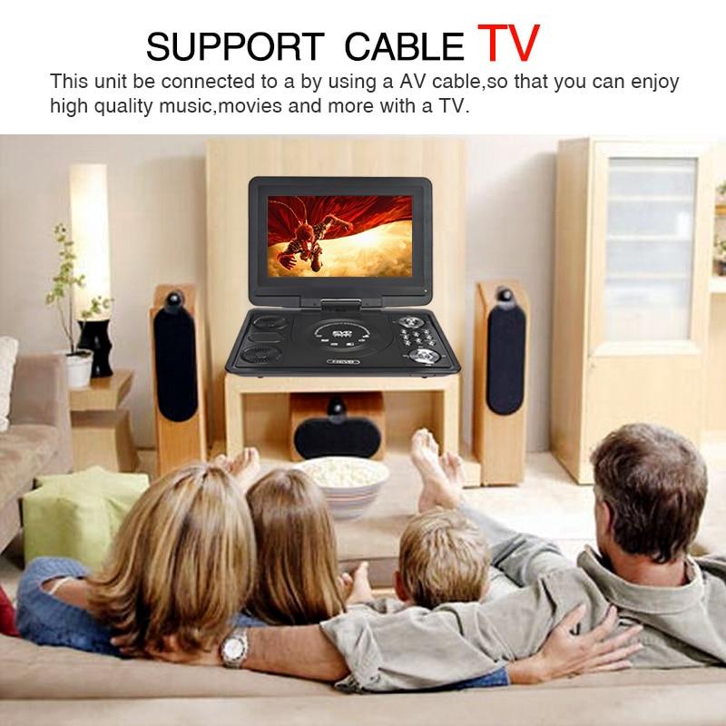 13 inç DVD Portable DVD Player Mobile Mobile Multimedia Player TV - Audio dhe video në shtëpi - Foto 4
