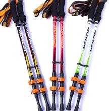 Фотография KORAMAN Walking stick Hiking Walking Trekking Trail Poles Ultralight Walking Canes Protector 3-section Adjustable Canes 1PCS