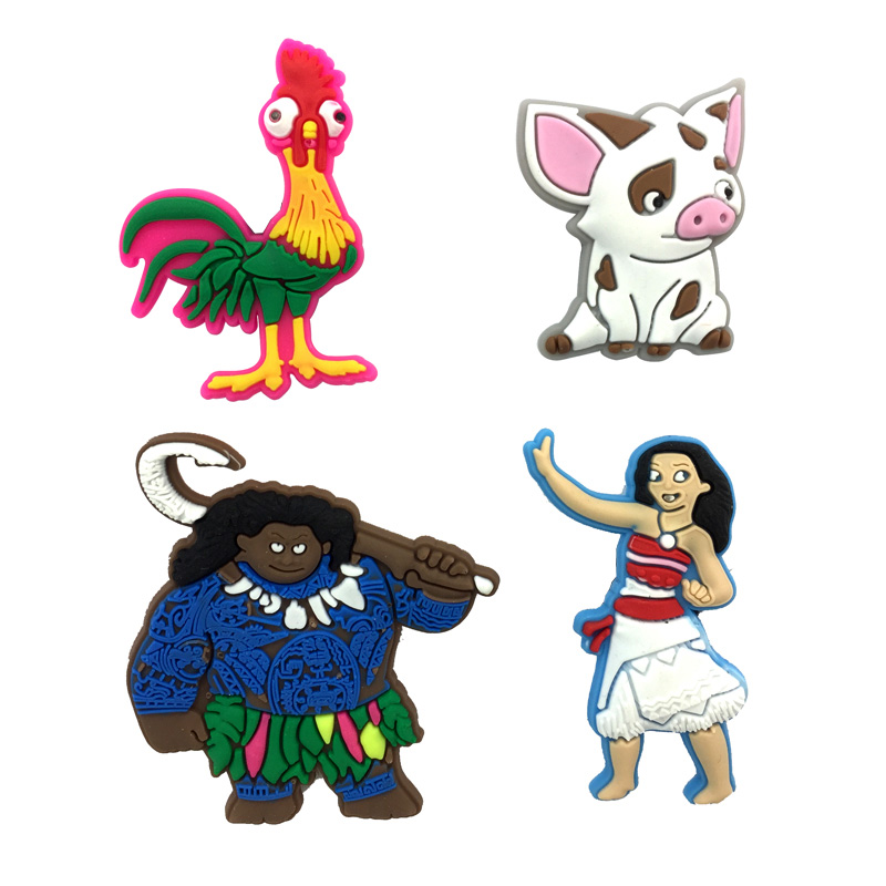1-4pcs Moana  Cartoon Pins badges Brooches Collection DIY Charms Fit Hat Clothes Bags Shoes  Decoration X-mas Party Gift1-4pcs Moana  Cartoon Pins badges Brooches Collection DIY Charms Fit Hat Clothes Bags Shoes  Decoration X-mas Party Gift