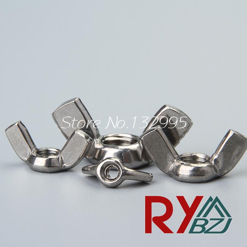 M3 M4 M5 M6 M8 M10 M12 DIN315 Wing Nut Hand Twist Nut thumb nut butterfly nut Stainless steel A2 SUS 304 DIN315 все цены
