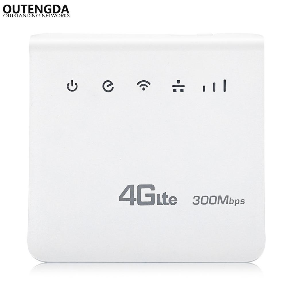 Débloqué 300 Mbps Routeur WiFi 4g wifi Mobile LTE CPE Routeurs avec Port LAN Soutien SIM Carte Europe Asie moyen-Orient Afrique