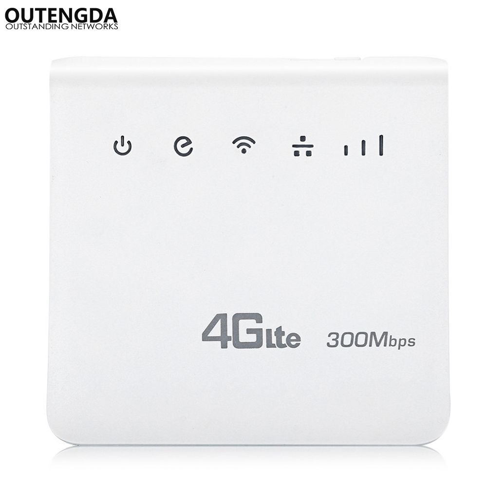Unlocked 300Mbps WiFi Router 4g wifi Mobile LTE CPE Routers with LAN Port Support SIM Card Europe Asia Middle East Africa asia blue card 100g