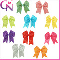 "Free Shipping 20Pcs/lot 10Colors 5.5""Girls Handmade Cheerbow With Clip,Sequin Cheer Leading Bow,Boutique Headdress ZH20-1504201"