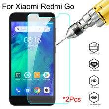 2 uds. De vidrio para Xiaomi Redmi Go, vidrio Protector de pantalla para xiomi xaomi xaiomi ksiomi go note 8t 9s 7 8 8a, película de seguridad