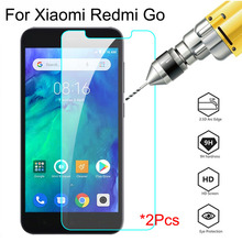 2pcs Glass For Xiaomi Redmi Go Screen Protector Protective Glass on xiomi xaomi xaiomi ksiomi go note 8t 9s 7 8 8a Safety film
