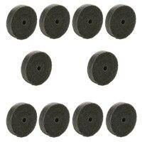 10pcs 75mm Nylon Fiber Round Abrasive Polishing Buffing Wheel Disc Buffing Pad