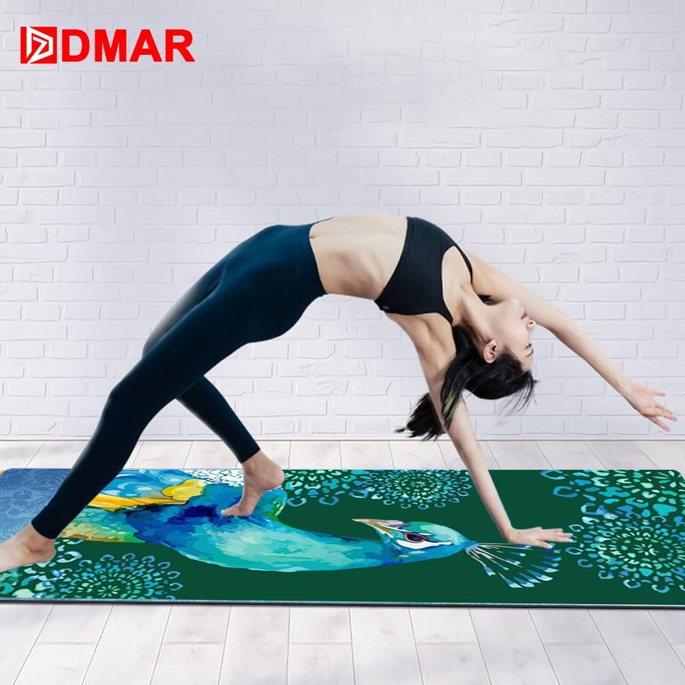 DMAR 183*65cm Yoga Mat Cover Towel Microfiber Non-slip Absorb Sweat Yoga Towel Silica Gel  Yoga Blanket Pilates Mat Cover
