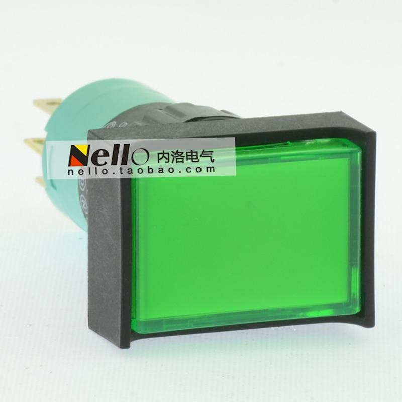 [SA] EMA 16 мм кнопочный переключатель с подсветкой самовосстанавливающийся 01P-RM40.Q1P прямоугольный круговой SquareLED 1NC 1NO-10pcs/лот