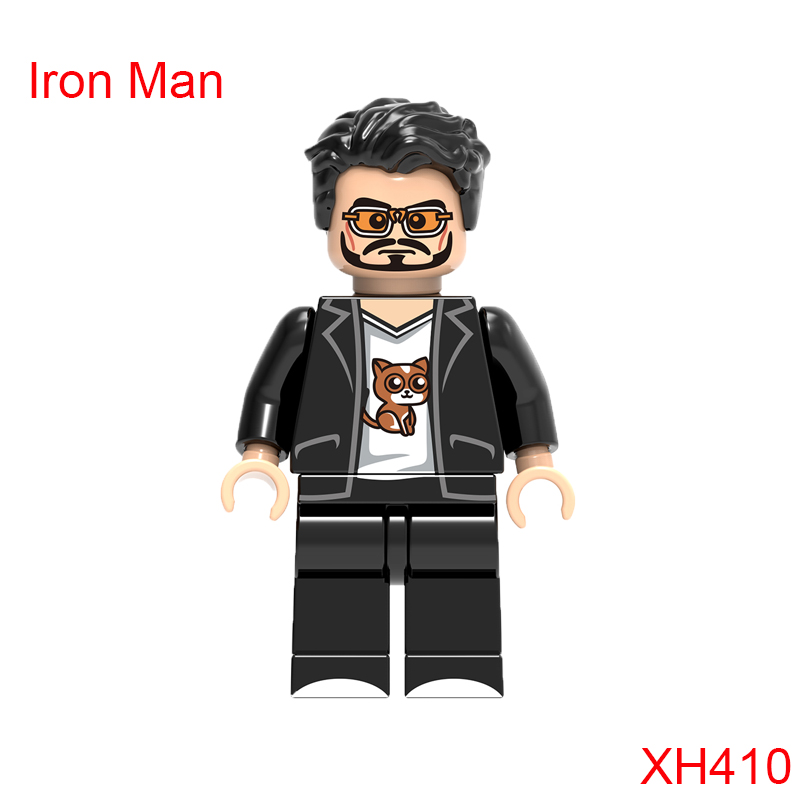 Single Sale Iron Man Building Block Mini Action Figure Super Heroes Star Wars Mini Doll Christmas Toys For Children Xh410 new hot 18cm one piece rob lucci cp9 action figure toys collection christmas gift doll no box