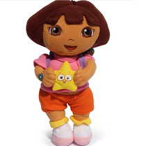 Free Shipping 1pcs 11″25cm 2015 New style so lovely Dora the Explorer with Star Extra Large Plush Doll dora explorer baby Toy