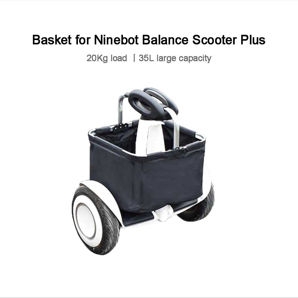 Panier de transport pour Scooter d'équilibre Ninebot Plus de Xiaomi mijia-noir
