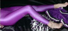 LG63 Unisex Lycra Spandex Tights Solid Color Opaque Zentai Legging Fetish Wear Customize Size