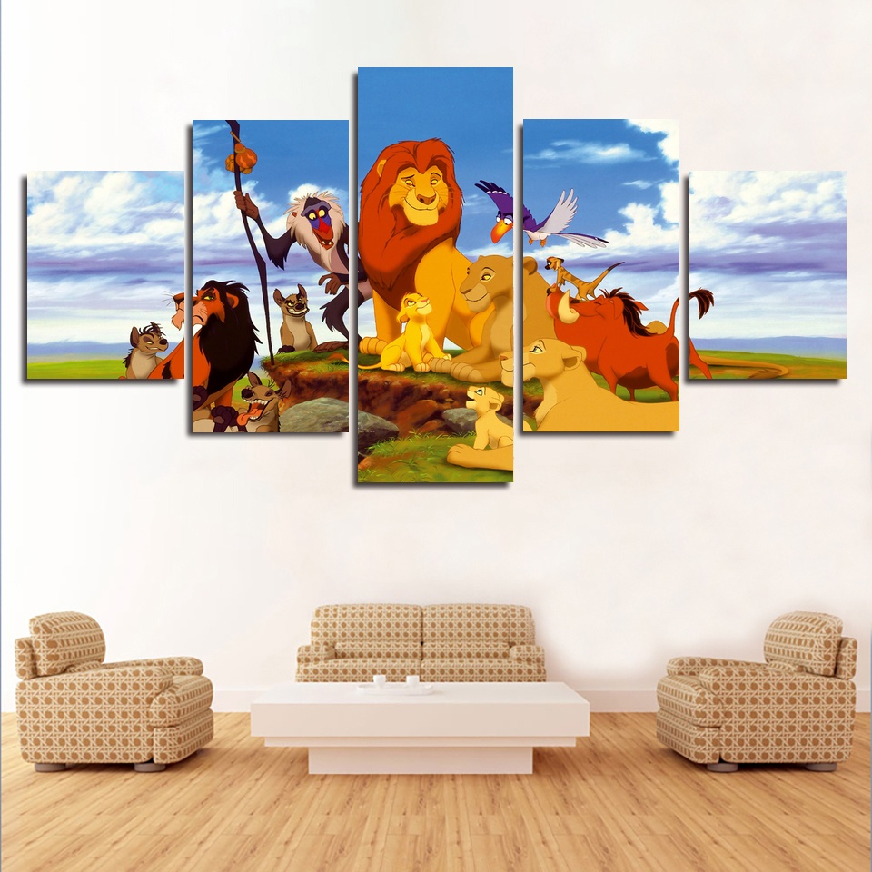 Kings Home Decor: Aliexpress.com : Buy The Lion King Art Silk Poster Home