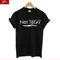 Не сегодня Ария Старк Игра престолов футболка Безликий Для женщин футболка большие размеры летние хлопковые графических тройников Для жен...