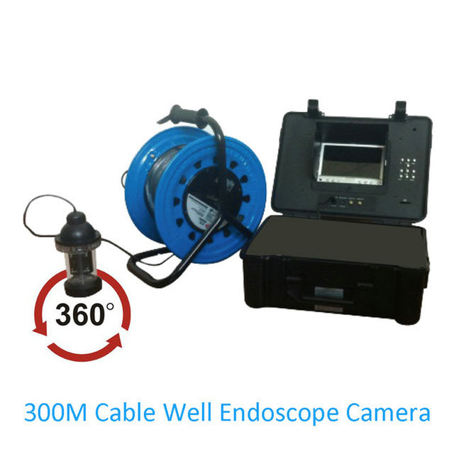 1 Set 300M cable Underwater Endoscope Camera Fishing Camera 360 degree Industrial inspection infrared LED Well Pipe system use