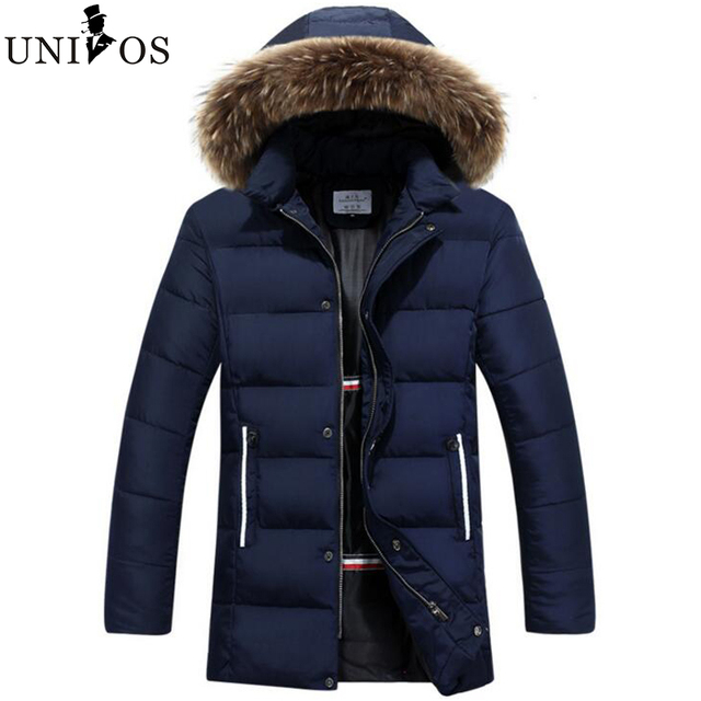 2016 New Military Army Style Solid Winter Padded Jacket Fashion Warm Thick Overcoat Fur Collar Outwear Asian Size Z2497