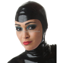 New style sex products sexy lingerie women black Latex hoods female hot open face mask customized handmade erotic teddy babydoll
