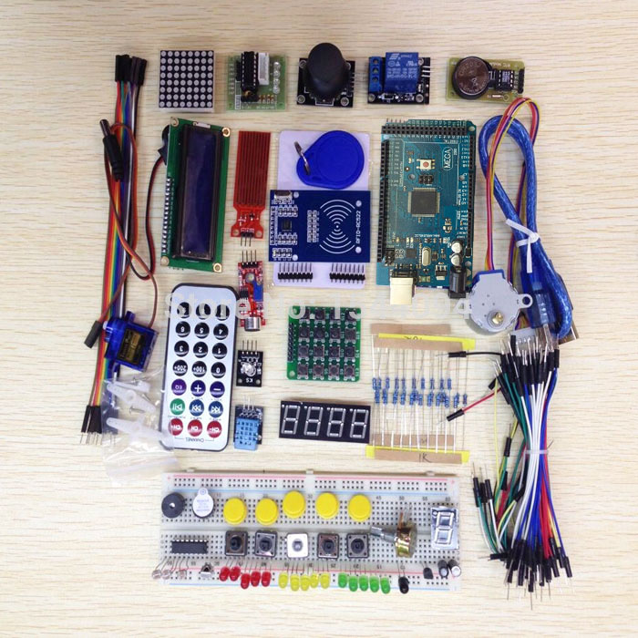Mega 2560 r3 starter kit motor servo RFID Ultrasonic Ranging relay LCD for font b arduino