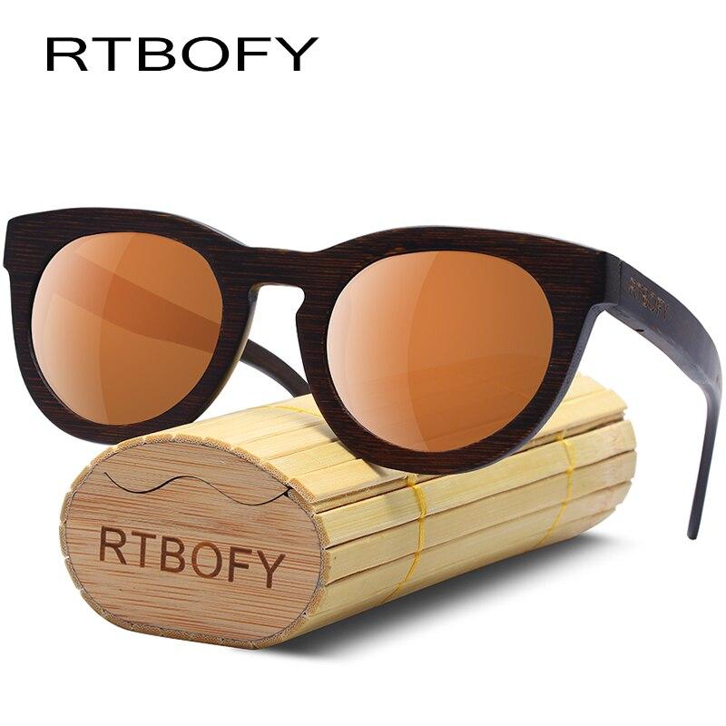 b82444868bec7 RTBOFY Wood Sunglasses Men Bamboo Frame Eyeglasses Polarized Lenses Glasses  Women Vintage Design Shades UV400 Protection Eyewear