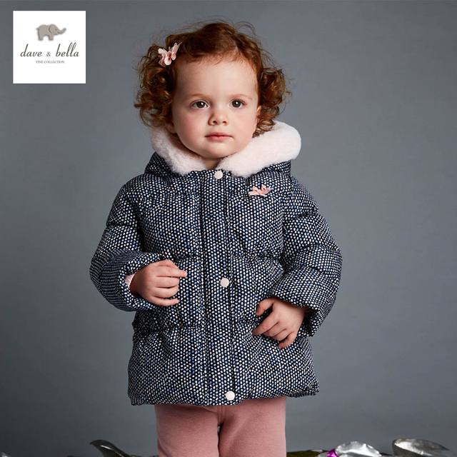 DB4025 davebella girls padded jacket high end boutique baby winter clothes