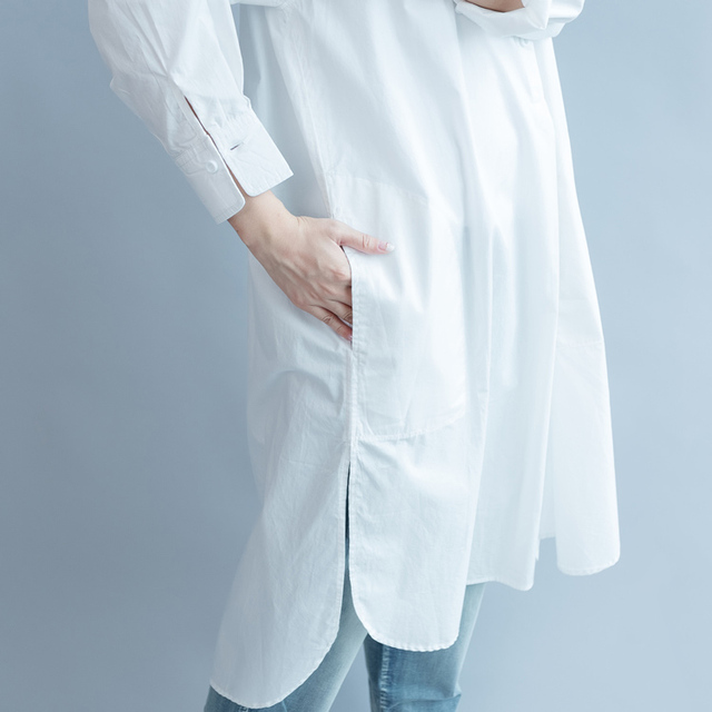 2018 blusas befree off shoulder top ladies long shirt fashion chemise femme long sleeve white blouse 4