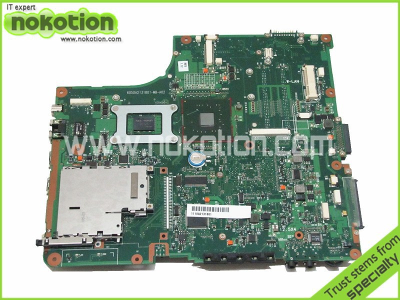 NOKOTION laptop motherboard For Toshiba A205 A200 V000108040 integrated DDR2 Mainboard full tested free shipping free shipping l755 hm75 ddr3 non integrated laptop motherboard for toshiba h000034860 mainboard fully tested and working perfect