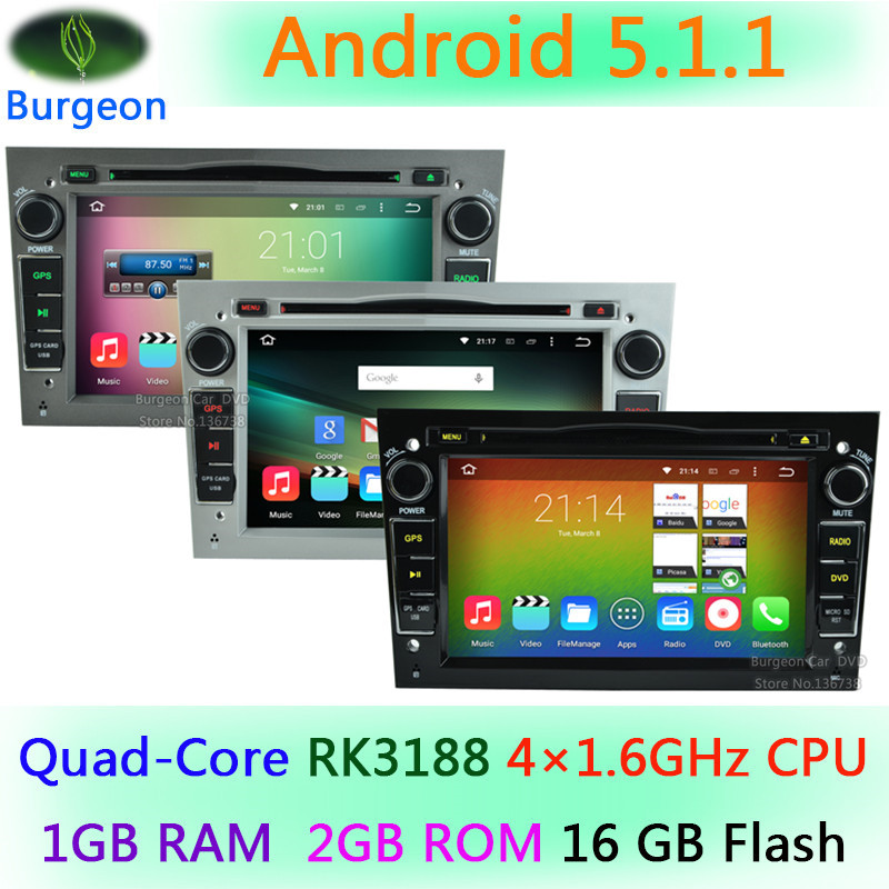 HD 1024X600 Quad Core Android 5.1.1 Car DVD Player Opel for Astra H Combo Corsa Meriva Vivaro Tigra Signum GPS Navigation Radio