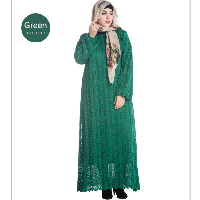 baaf1058be1 YSMARKET Women Lace Maxi Long Sleeve Muslim Dress Clothing Malaysia Abaya  KazakhstanTurkish Islamic Plus Size Robe