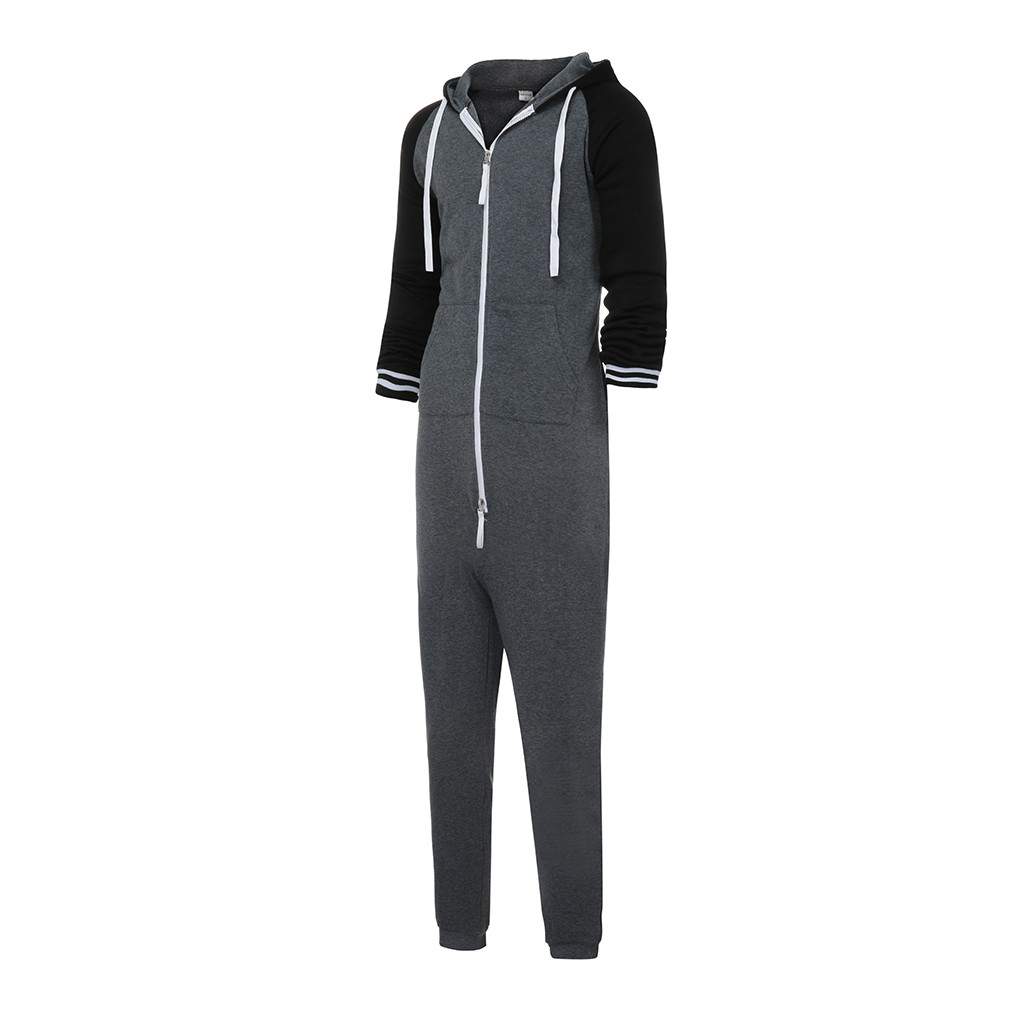 0ac0a6ff7d2 Men s Sporting Unisex Jumpsuit One-piece garment Non Footed Pajama ...