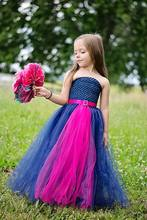 Girl TUTU Dress Europe and America Ribbons Sash Lace Top Gauze Bottom Patchwork tutu Dress Children Clothes 1-13T PT157