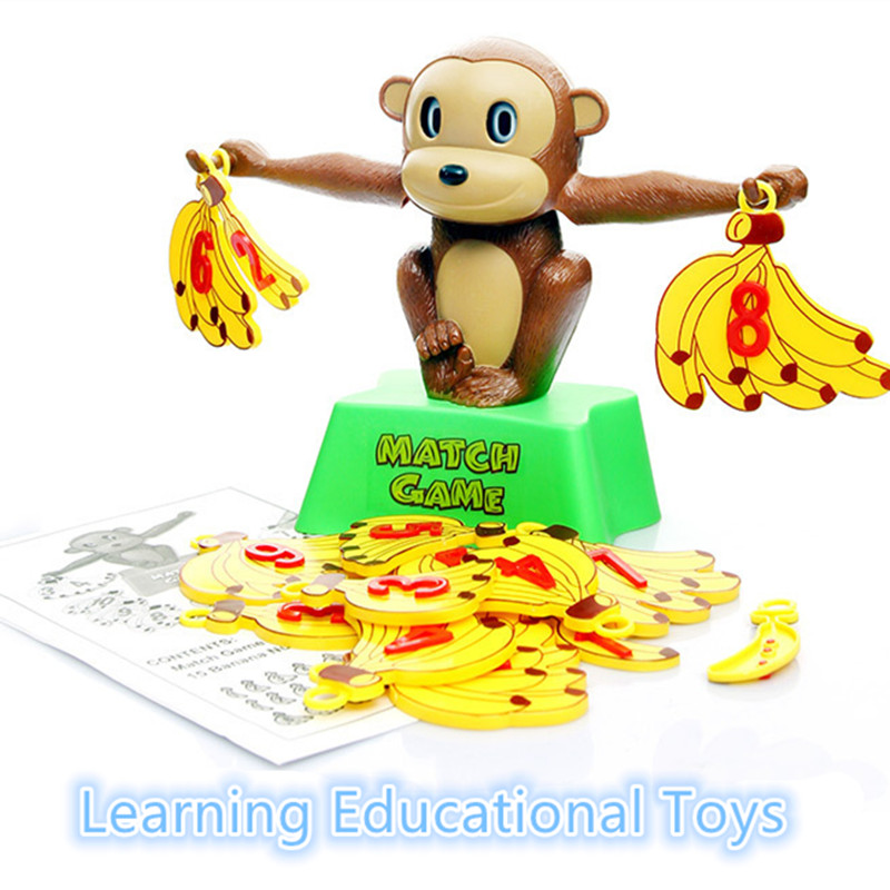 Classic Educational Toys : Set montessori educational toys brain teaser monkey