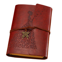 A6 vintage notebook Korea diary A6 notebook stationery pu leather cute notebook school supply