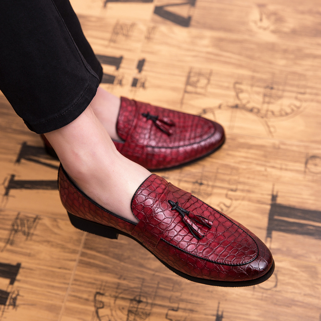 Men's Multicolor Leather Slip-On Loafers