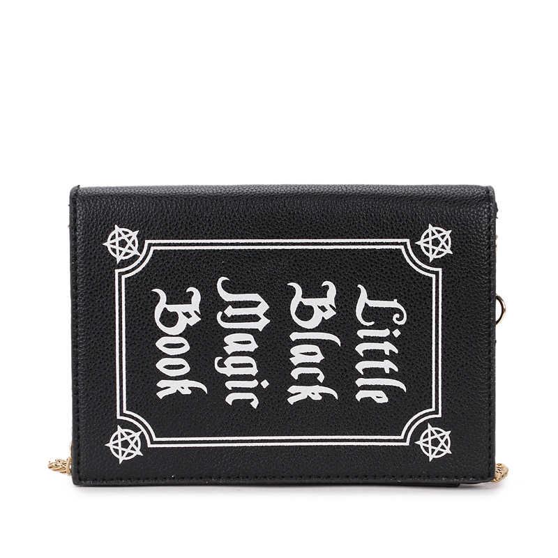 Мода письмо Волшебная книга формы pu кошелек ежедневно клатч сумка женская сумка цепи Сумочка через плечо мини сумка