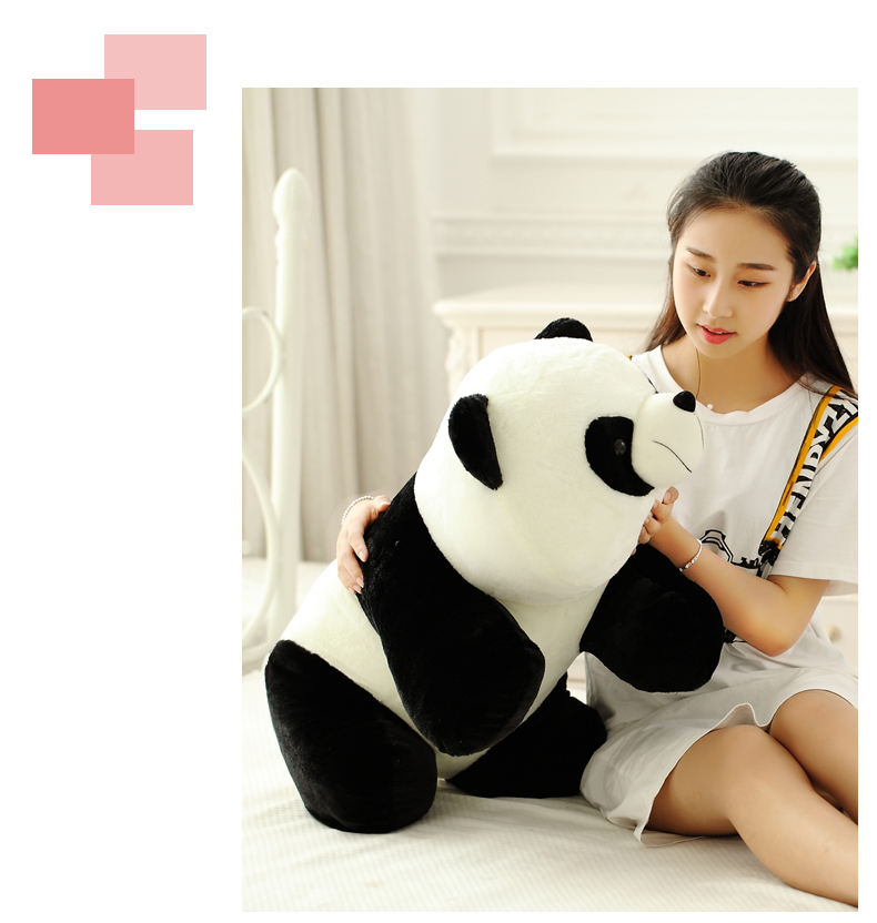large 90cm prone panda plush toy panda doll soft throw pillow birthday gift, Xmas gift 0323 110cm cute panda plush toy panda doll big size pillow birthday gift high quality