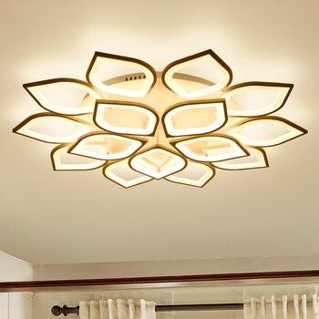 Bloemvorm Plafond Verlichting Eenvoudige Aluminium Plafondlamp Creatieve Acryl Plafond Verlichtingsarmaturen Lampen Voor Woonkamer Avize