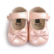 PU Leather Baby Shoes Newborn Infants Crib Soft Shoes Sneakers First Walker 0-18M