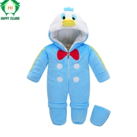 2017 New Arrival Children Rompers Pure Cotton Kawaii Kids Jumpsuit Infant Baby Boys Girls Pajamas Animal