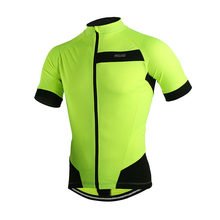 Arsuxeo 2017 Men s Summer Short Sleeve Cycling Jersey Off Road City MTB  Bike Bicycle Shirt Sportswear - Fluorescent Green 50203b155