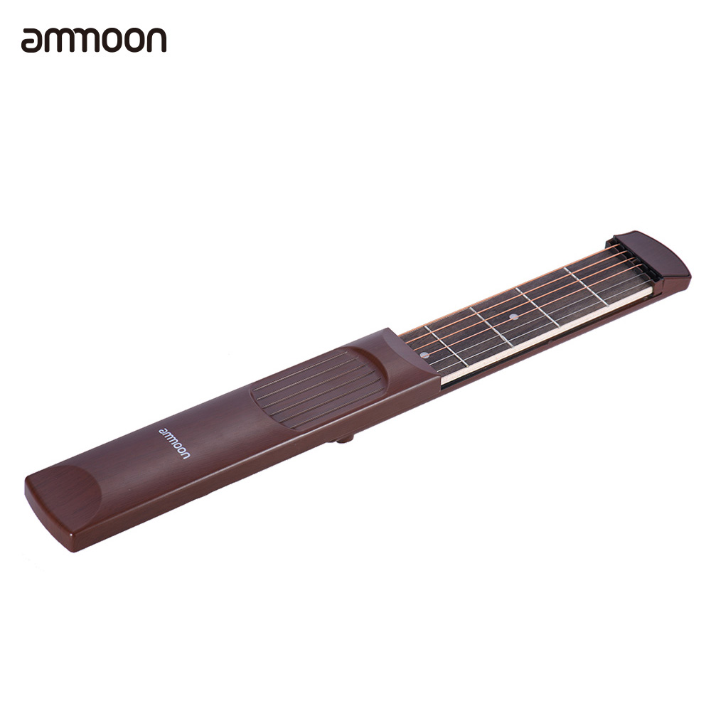 ammoon portable pocket acoustic guitar practice tool gadget chord trainer 6 string 6 fret model. Black Bedroom Furniture Sets. Home Design Ideas