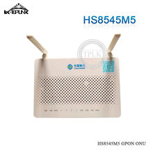 50pcs HS8545M5 original new Mini size HS8545M5 GPON ONU ONT with 1GE+3FE+1TEL+USB+Wifi ports English firmware cheap price(China)
