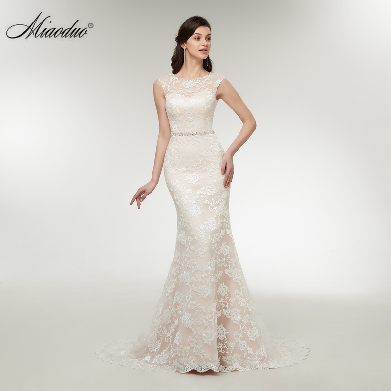 2019 Beach Boho Wedding Dresses Lace Mermaid Appliques Wedding Dresses Sleeveless Court Train Wedding Gowns vestidos