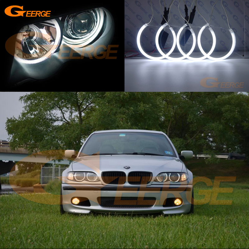 For BMW E46 325i 325xi 330i 330xi with HID headlights 1999-2004 Excellent CCFL angel eyes kit Ultrabright illumination Halo Ring for bmw e39 520i 525i 528i 5 series 1997 2003 excellent ccfl angel eyes kit ultrabright illumination angel eyes halo ring