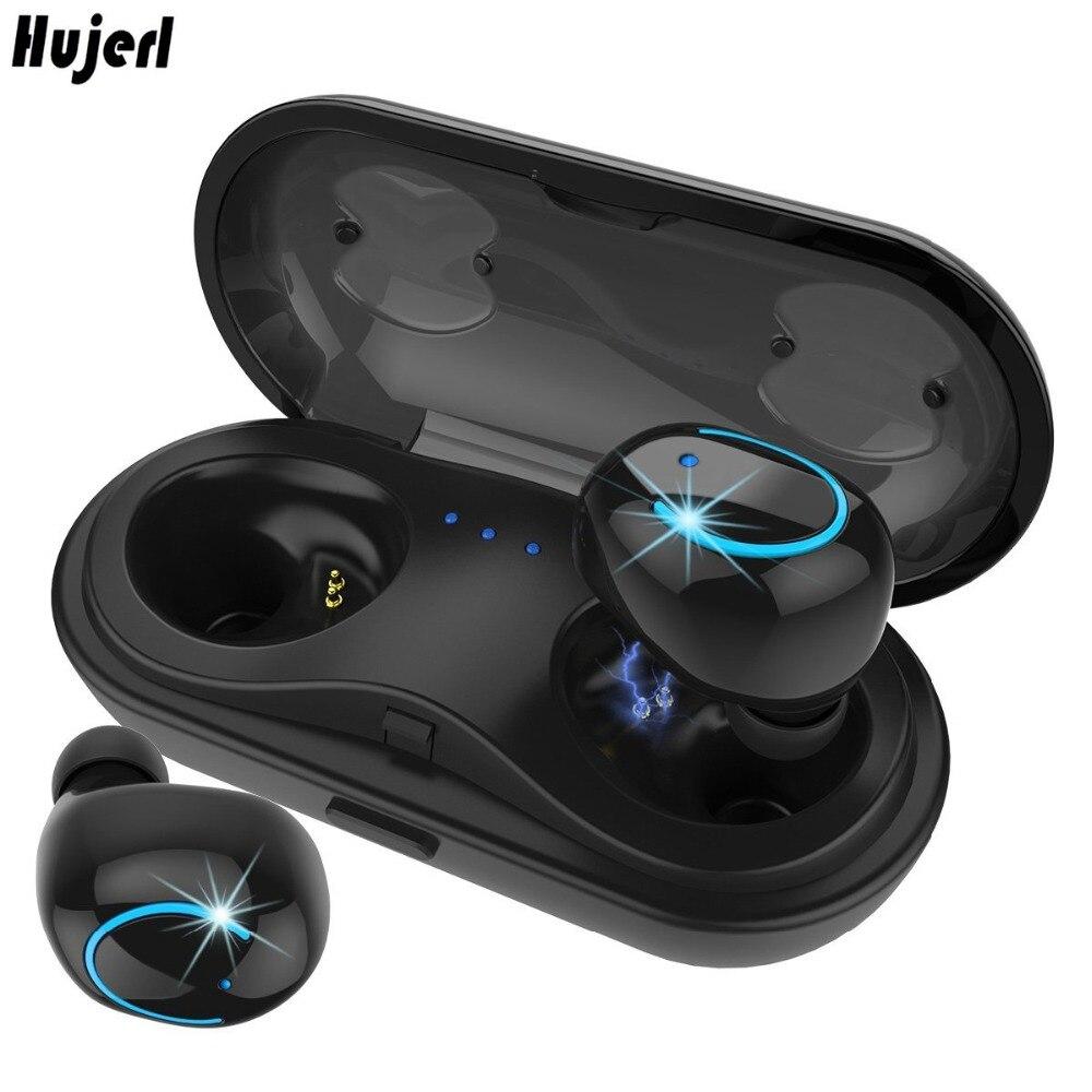 Vrai Sans Fil Écouteurs Stéréo Bluetooth Écouteurs Sans Fil Bluetooth Casque Écouteur avec Built-In HD Mic et Cas De Charge