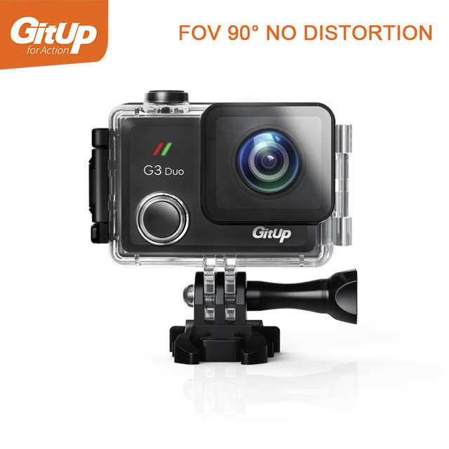 """Gitup G3 Duo 90 Degree Lens 2K 12MP 2160P Sport Action Camera 2.0"""" Touch LCD Screen GYRO Optional GPS Slave Camera"""
