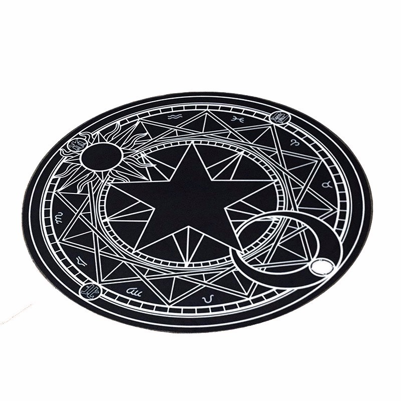 Pentacle Magic Array Round Carpet Living Room Print Mats Children Cartoon Star Rug Mat Fashion Circular Carpet Home Decorate Use