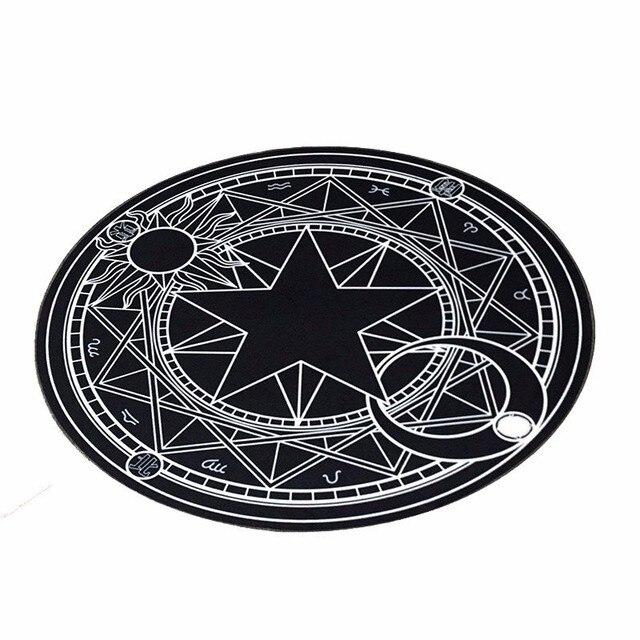 Pentacle Magic Array Round Carpet Living Room Print Mats Children Cartoon Star Rug Mat Fashion Circular