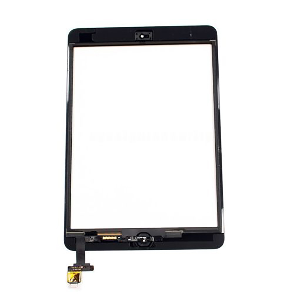 Adhesive Panel Touch Screen Kit Glass Replacement Lens Parts Sensor Digitizer Home Button Front Assembly IC For IPad Mini 1 2(China)