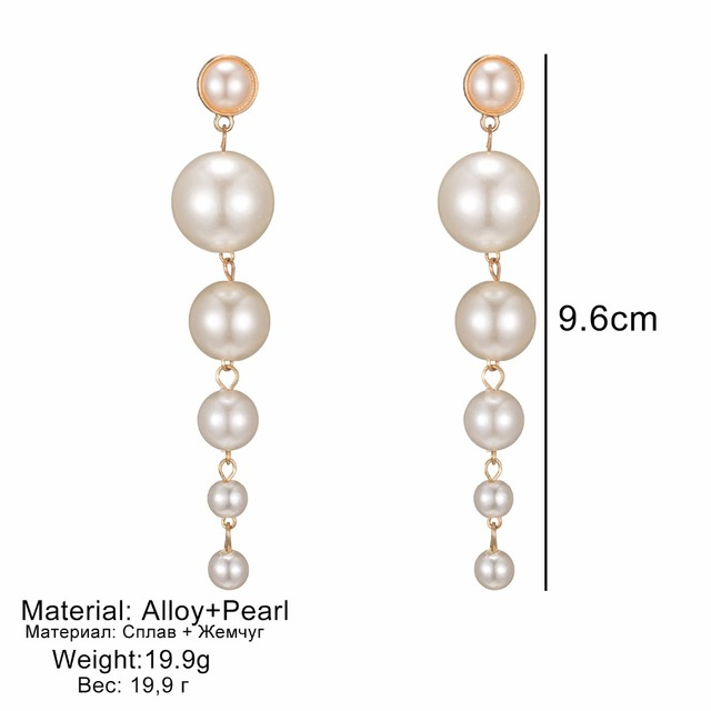 Longues boucles d'oreilles en perles 4